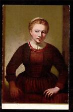 c1908 Portrait of a Girl by Rembrandt Van Ryn Art Institute of Chicago postcard