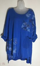 BNWT OBSESSION DRESS Tunic Smock Plus Size Any Shape Or Size Blue