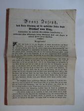 1855 Bischof von Linz Rundschreiben Oberösterreich Diözese Kirche katholisch