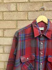 Urban Outfitters Red Check Wool Flannel Shirt Large Vintage 90s Skater