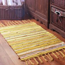 "100% Cotton Handmade Multi Coloured Floor Rug Chindi Area Rag Boho Mat 28""x47"""