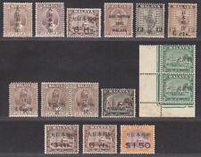 Malaya Japanese Occupation 1942 Overprint Selection Mint / Unused