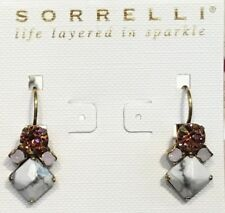 SORRELLI Pink Peony ~leverback~drop~dangle~earring!