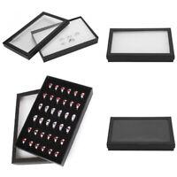 36 Slots Ring Earrings Jewellery Display Storage Box Case Tray Holder Organizer