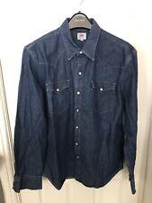 Levi's Denim Barstow Shirt Dark Blue Size Large **Free UK Postage**