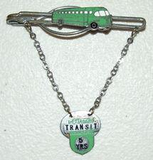 Vintage 1950's Enamelled Bus Driver Silver Tie Clip Bar w/Safety Transit Award