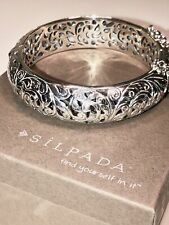Silpada B1829 Forever Stunning Filigree Bangle Bracelet 925 Sterling Silver $329