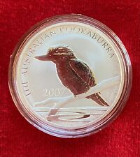 2007  Australian KOOKABURRA 1oz Silver coin BU (in capsule)