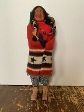 Vintage Skookum Native American Indian Doll With Papoose 15.5 Inches