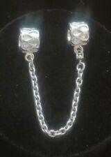 Genuine  NEW Pandora Silver ' Raindrops ' Safety Chain / charm 790315 Ale S925