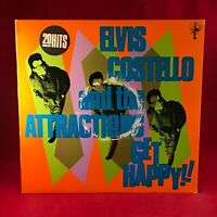 ELVIS COSTELLO AND Get Happy 1980 UK vinyl LP + INNER + POSTER EXCELLENT CONDITI