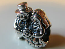 Authentic Genuine Pandora Silver  Bride & Groom Charm 791116