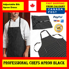 Apron Professional Chefs Black & White Striped Apron for Chef Waiter BBQ Cafe Ca