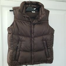 Columbia Womens Quilted Down Puffer Jacket Vest Sleeveless M/ 12-14 dark brown