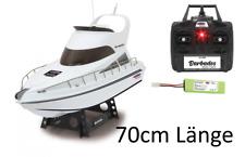RC Yacht - XL ferngesteuertes Boot Rennboot Speedboot Motorboot XL -70cm- Länge