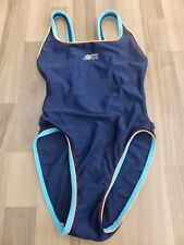 NAVY BLUE SPEEDO SWIMMING COSTUME SIZE UK 32""