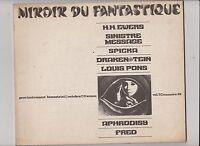 MIROIR DU FANTASTIQUE n°22. Ewers, Fred. Fanzine de Fantastique. 1970