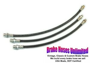 BRAKE HOSE SET Ford Truck, F3 Heavy Duty, 3/4 Ton - 1948 1949 1950 1951 1952