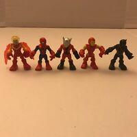 "Marvel Super Hero Squad 2.5"" Hasbro Spider-Man Ironman Black Panther rare"