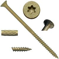 BRONZE STAR SCREWS: Exterior Torx/Star (ACQ) Coated Fence and Deck Wood Screws