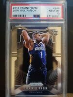 2019-20 Panini Prizm: #248 Zion Williamson RC PSA 10 GEM MINT