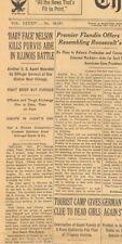 Baby Face Nelson Kills Purvis Aide in Battle of Barrington November 28 1934 B20