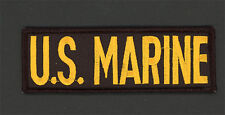 USMC US MARINE CORPS MARINES Black & Gold Embroidered Distinguishing Patch 5-1/4
