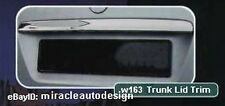 1997-2005 Mercedes Benz W163 (U.S.A. Version) Chrome Stainless Steel Trunk Lid