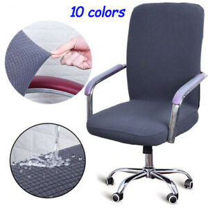 Office Chair Cover Solid Computer Chair Cover Spandex Stretch Armchair Seat Case