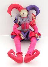 "Art Rabbit Joker Clown 24"" Doll Vinyl/Cloth"