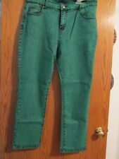DG2 by Diane Gilman Stretch Jeans - Jade Green - Size 16P