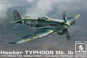 Brengun Models 1/72 HAWKER TYPHOON Mk.IB Late Production Bubble Canopy