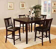 Modern Stylish Parson Chair Dining Room 5p Dining Set Counterheight Table Chairs