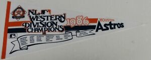 1986 Vintage Houston Astros NLDS Champs Pennant 30x11 Inches NMT 63822