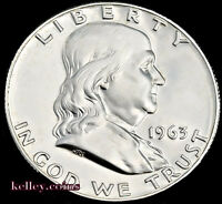 1963-D 50C Franklin Silver Half Dollar BU