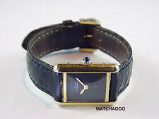 Classic Ladies Vintage Must De Cartier TANK Gold Argent Mechanical Manual Watch