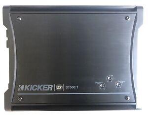 KICKER 12ZXS15001 Monoblock Class D Car Audio Subwoofer Amplifier