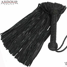 Genuine Black Cow Hide Thick Leather Flogger 100 Tails Heavy Leather Whip