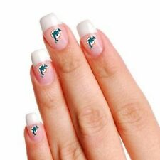 NFL Miami Dolphins Temporary Fingernail Tattoos 02 SETS of 10 tattoos each one