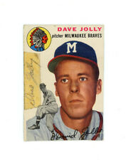 DAVE JOLLY signed 1954 TOPPS baseball card #188 BRAVES Rookie
