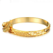 Charm 18K Gold Plated Baby Kid Jewelry Link Bracelet Bell Bangle Hand Chain Gift