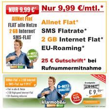Sim Karte Vertrag ohne Handy, Sim Only Allnet Flat D2 Netz Handyvertrag günstig