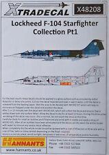 Xtradecal 1/48 X48208 Lockheed F-104 Starfighter Pt 1 decal set