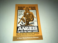 ANGELS HARD AS THEY COME Movie Pressbook Hells Angels Motorcycle Gang Action