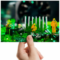 "Radioactive Motherboard Tech Small Photograph 6"" x 4"" Art Print Photo Gift #3594"