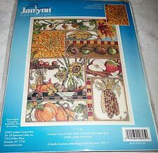 "Janlynn Counted Cross Stitch Kit AUTUMN MONTAGE 11"" x 14"""