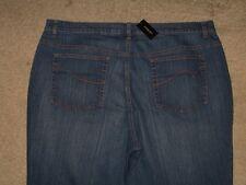 Venezia Size 24 Average Flare Dark Blue Stretch Denim Womens Jeans New With Tag