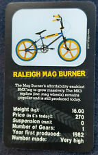 TOP TRUMPS 'BIKE TRUMPS' RALEIGH MAG BURNER - SINGLE TOP TRUMP CARD