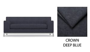 KRAMFORS 2 Seat IKEA Sofa Cover, Slipcover - Crown Deep Blue