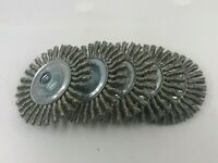 "Weiler 4"" Stringer Bead Twist Knot Wire Brush SS .020 5/8""-11 #36219 (Qty of 5)"